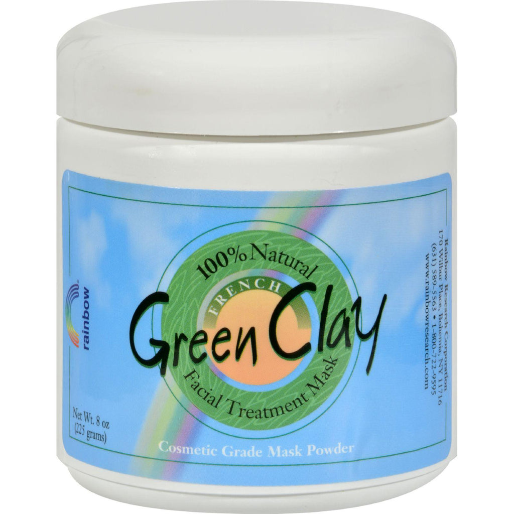 Rainbow Research French Green Clay Facial Treatment Mask - 8 Oz-Rainbow Research-pantryperks