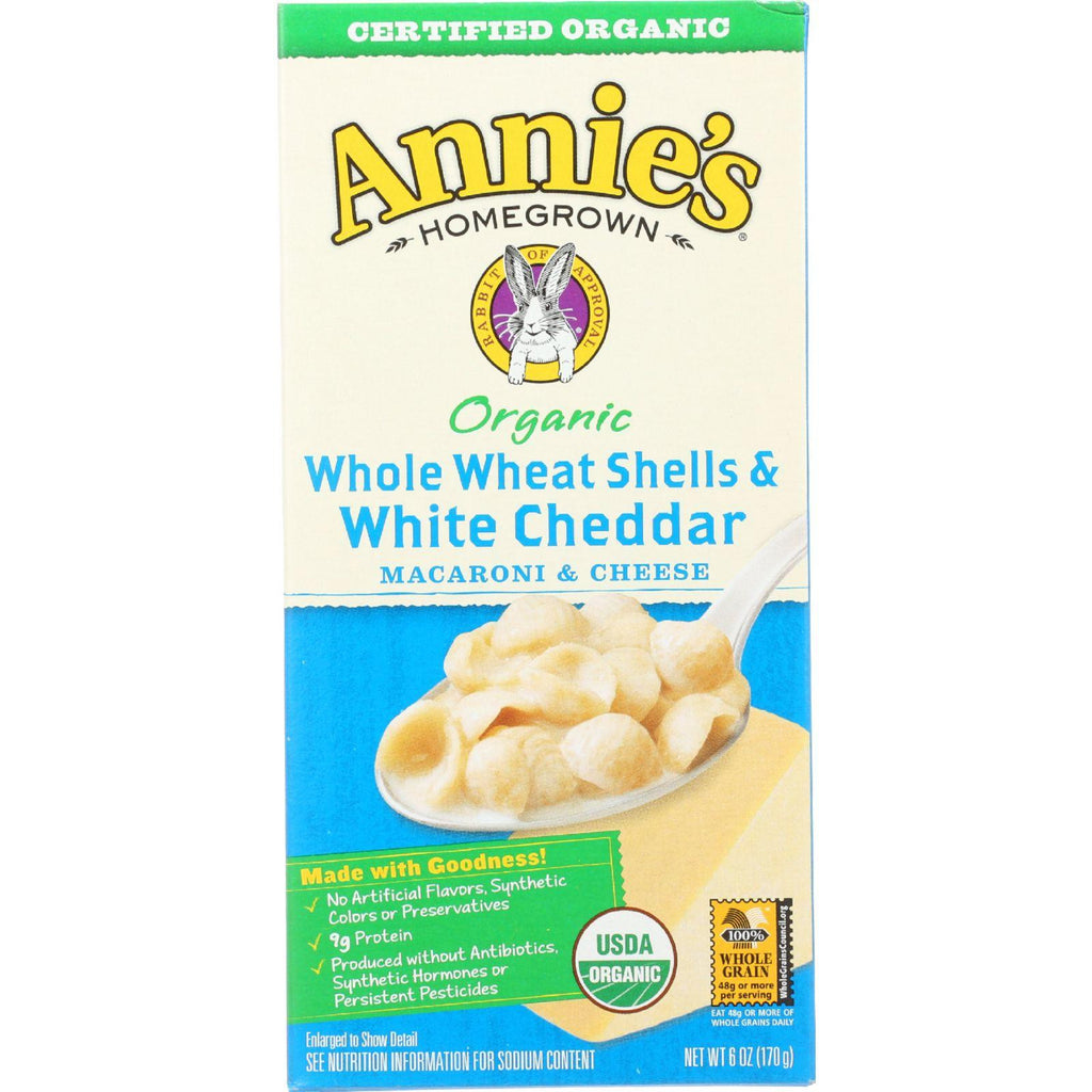 Annie's Homegrown Organic Whole Wheat Shells and White Cheddar - 6 oz-Annie's Homegrown-pantryperks