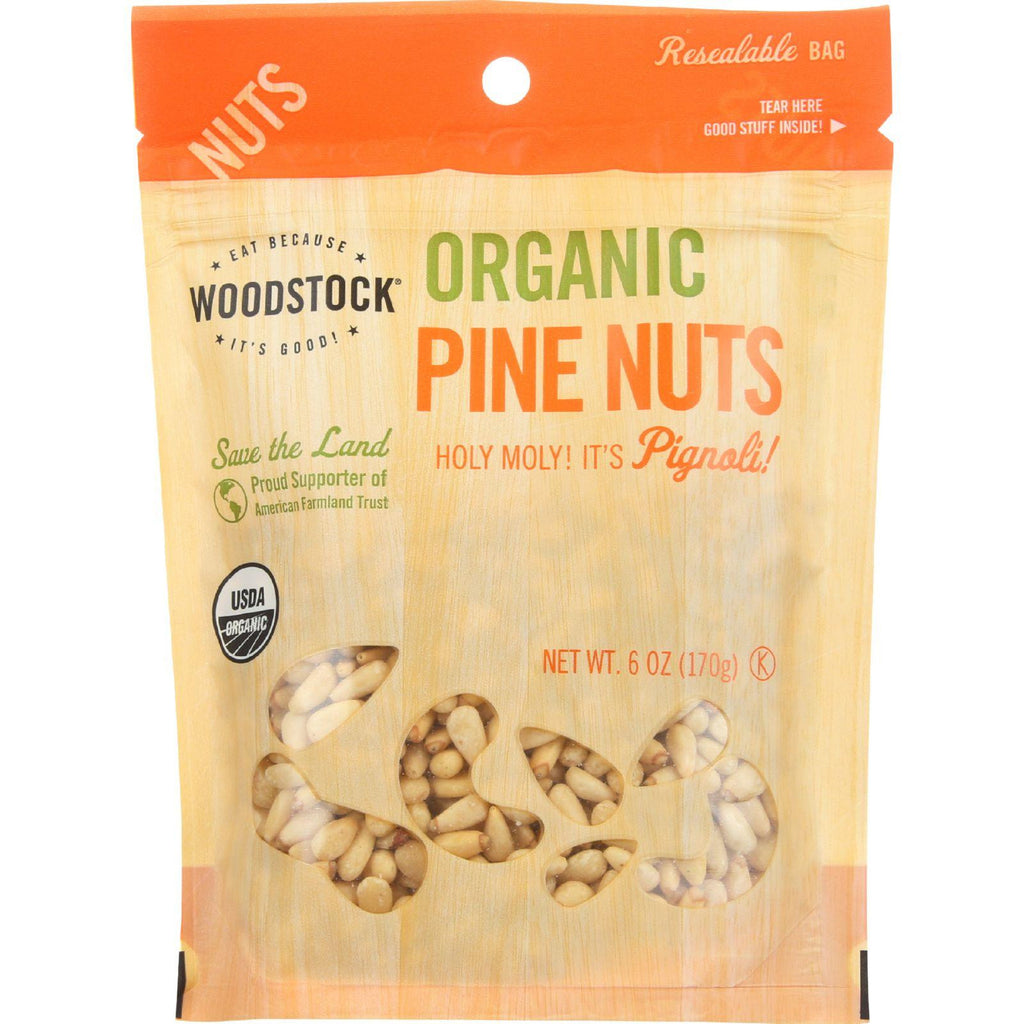 Woodstock Nuts - Organic - Pine Nuts - 6 Oz - Case Of 8-Woodstock-pantryperks