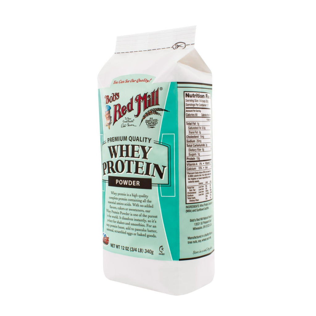 Bob's Red Mill Whey Protein Powder - 12 Oz - Case Of 4-Bob's Red Mill-pantryperks