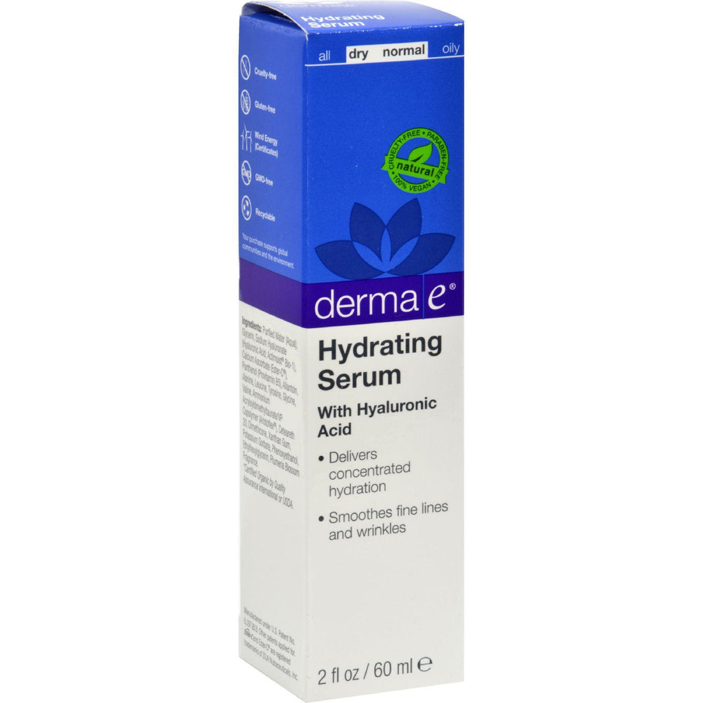 Derma E Hydrating Serum with Hyaluronic Acid - 2 fl oz-Derma E-pantryperks