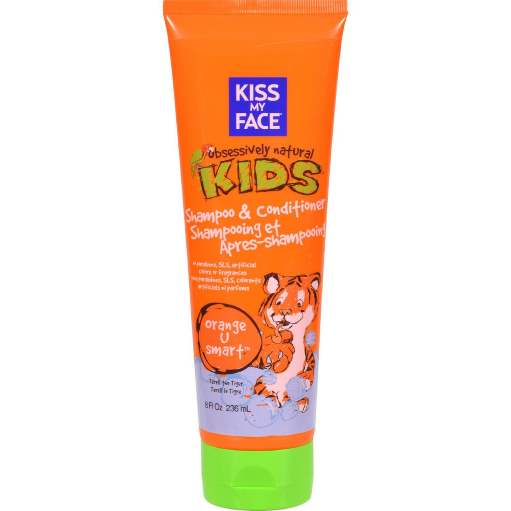 Kiss My Face Kids䋢 Shampoo and Conditioner Orange U Smart䋢 - 8 fl oz-Kiss My Face-pantryperks