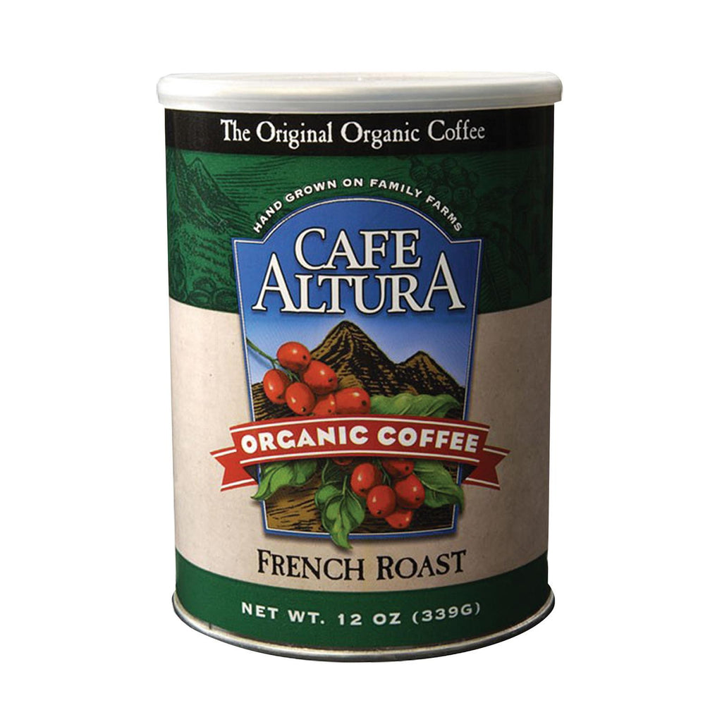 Cafe Altura Organic Ground Coffee - French Roast - Case Of 6 - 12 Oz.-Cafe Altura-pantryperks
