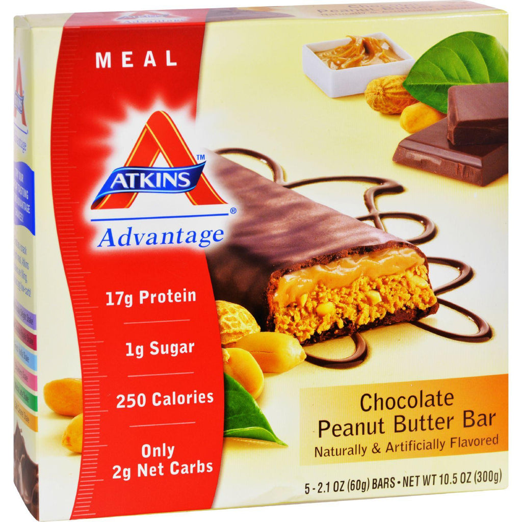 Atkins Advantage Bar Chocolate Peanut Butter - 5 Bars-Atkins-pantryperks