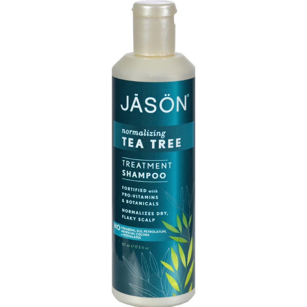 Jason Normalizing Treatment Shampoo Tea Tree - 17.5 fl oz-Jason Natural Products-pantryperks