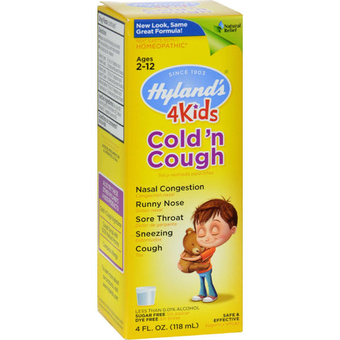 Hyland's 4 Kids Cold and Cough Relief Liquid - Natural Common Symptoms - 4 Ounce-Hyland's-pantryperks