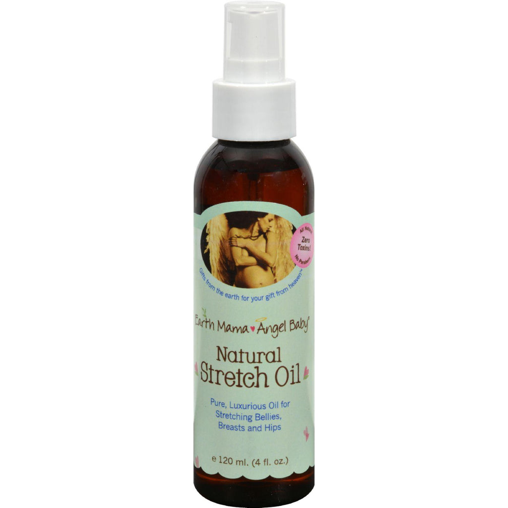 Earth Mama Angel Baby Natural Stretch Oil - 4 Fl Oz-Earth Mama Angel Baby-pantryperks