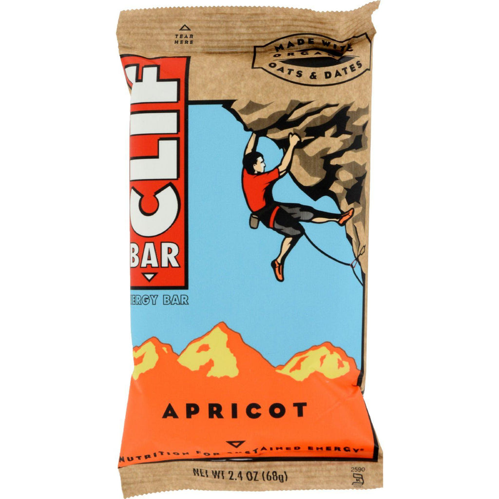 CLIF BAR - Energy Bar - Apricot - - 2.4 Ounce Protein Bar - 12 Count-Clif Bar-pantryperks