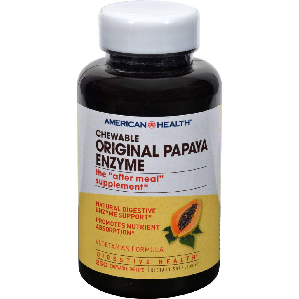 American Health Original Papaya Enzyme Chewable - 250 Tablets-American Health-pantryperks