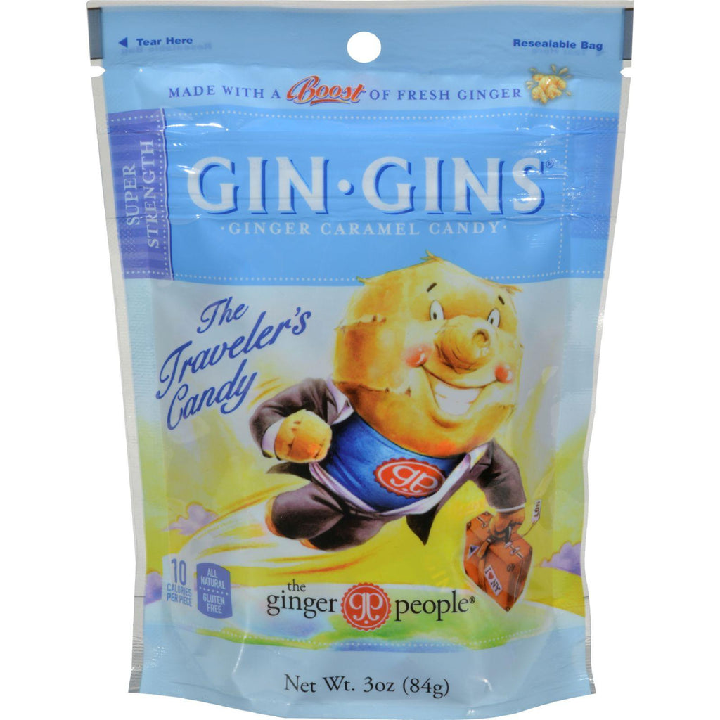 Ginger People Gingins Super Candy Bags - Case Of 24 - 3 Oz-Ginger People-pantryperks