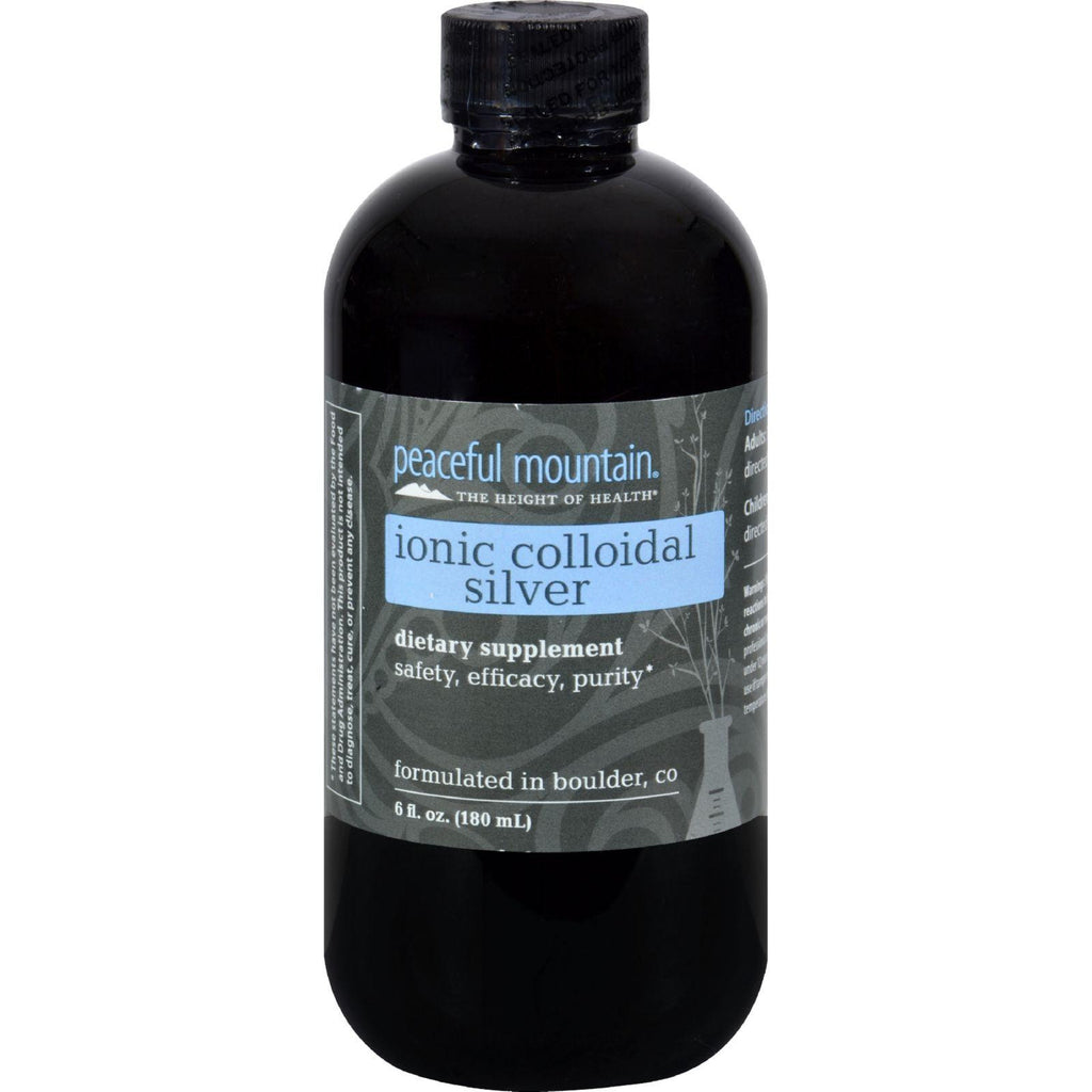 Peaceful Mountain Ionic Colloidal Silver - 6 Fl Oz-Peaceful Mountain-pantryperks
