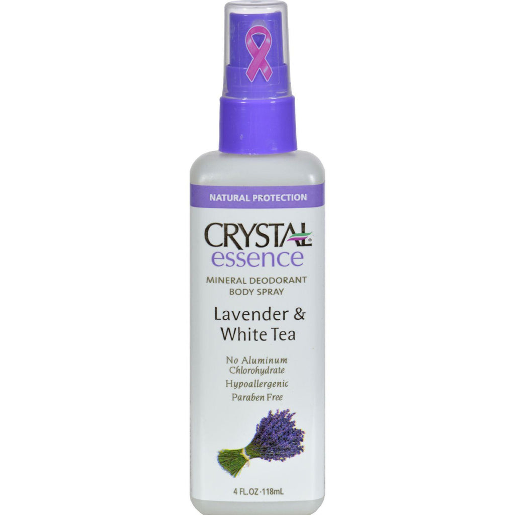 Crystal Mineral Deodorant Body Spray Lavender & White Tea - 4 fl oz-Crystal Essence-pantryperks