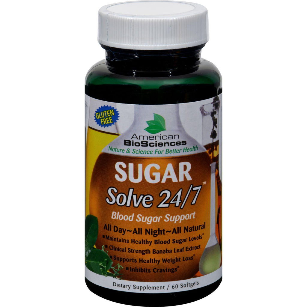 American Bio-sciences Sugar Solve 24-7 - 60 Softgels-American Bio-science-pantryperks