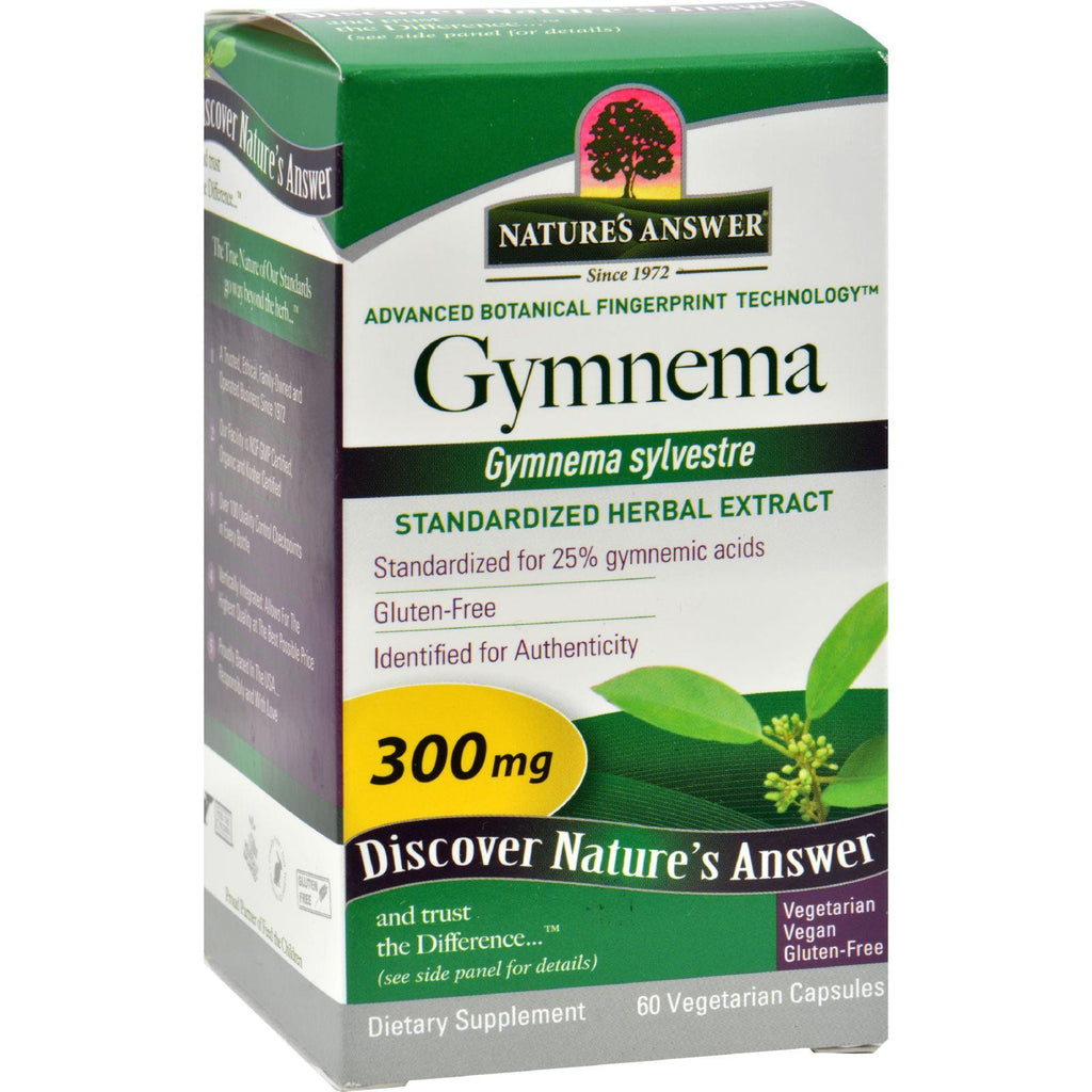 Nature's Answer Gymnema Leaf Extract - 60 Vegetarian Capsules-Nature's Answer-pantryperks