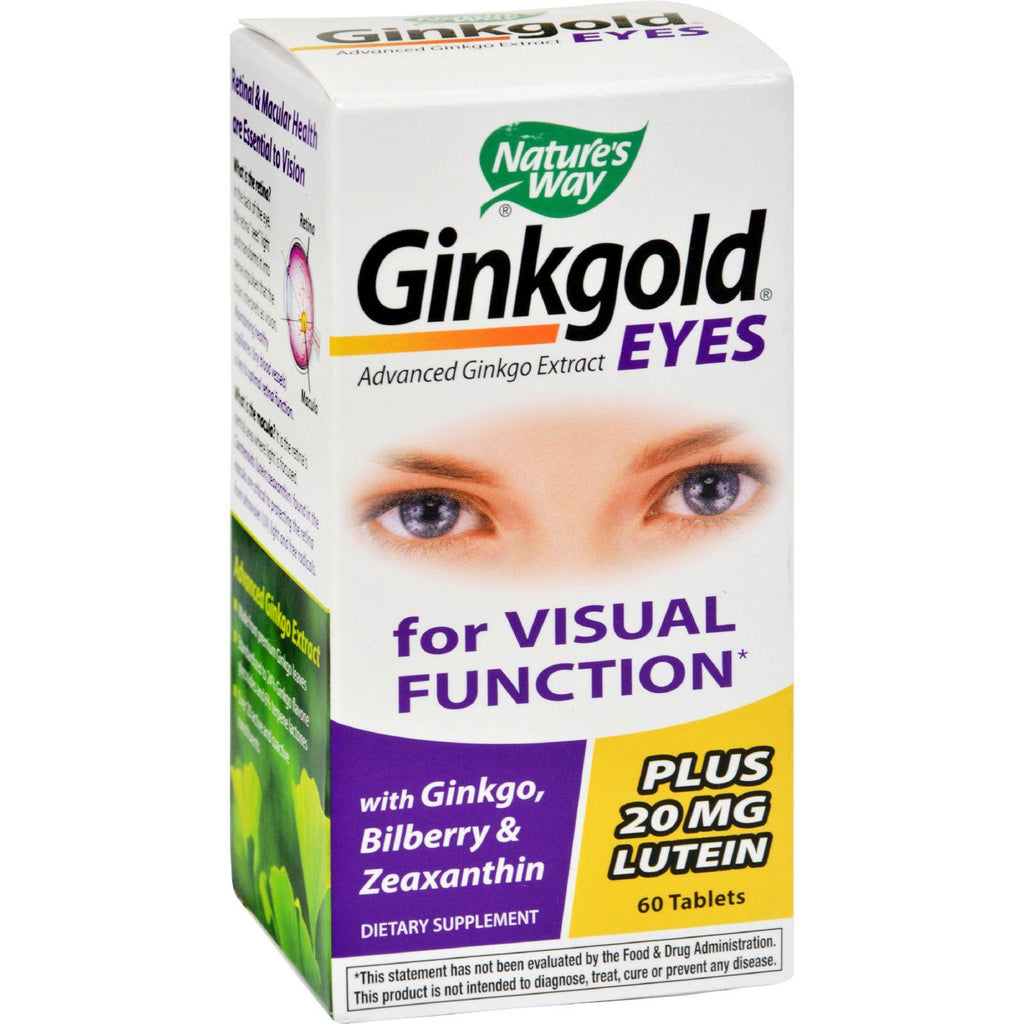 Nature's Way Ginkgold Eyes - 60 Tablets-Nature's Way-pantryperks