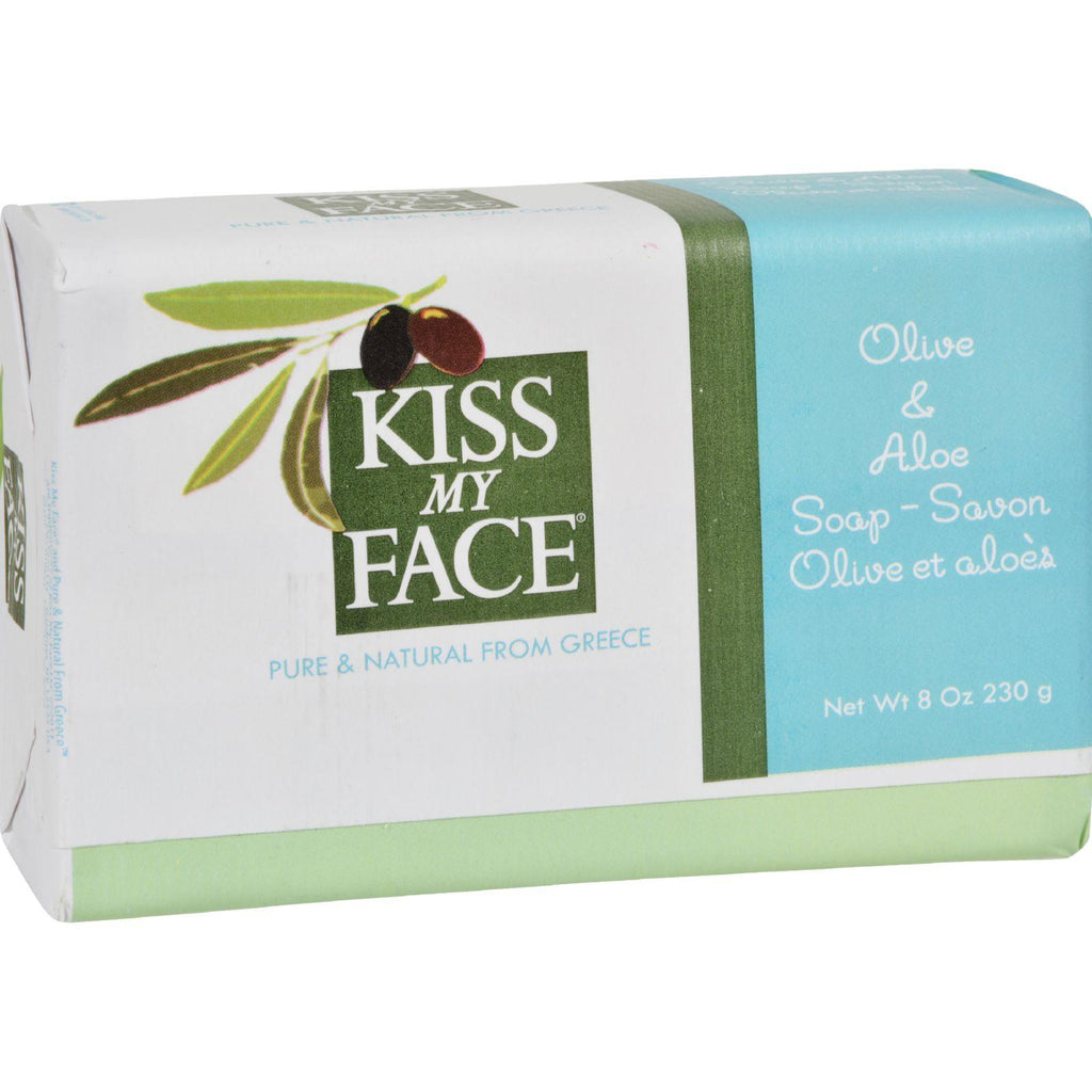 Kiss My Face Bar Soap Olive and Aloe - 8 oz-Kiss My Face-pantryperks