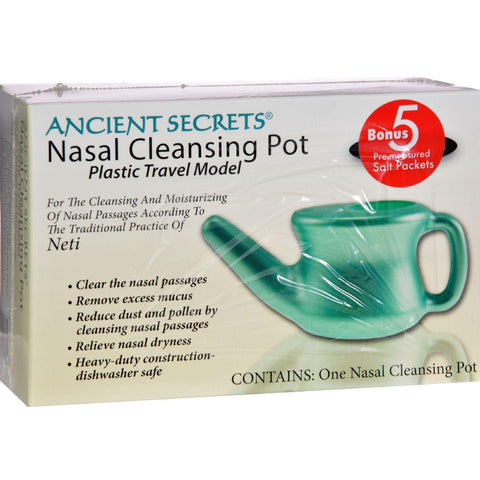 Ancient Secrets Nasal Cleansing Pot - Plastic Travel Model - Box-Ancient Secrets-pantryperks