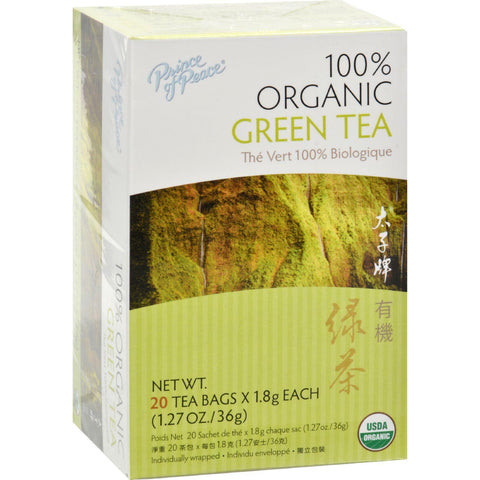 Prince Of Peace Organic Green Tea - 20 Tea Bags-Prince Of Peace-pantryperks