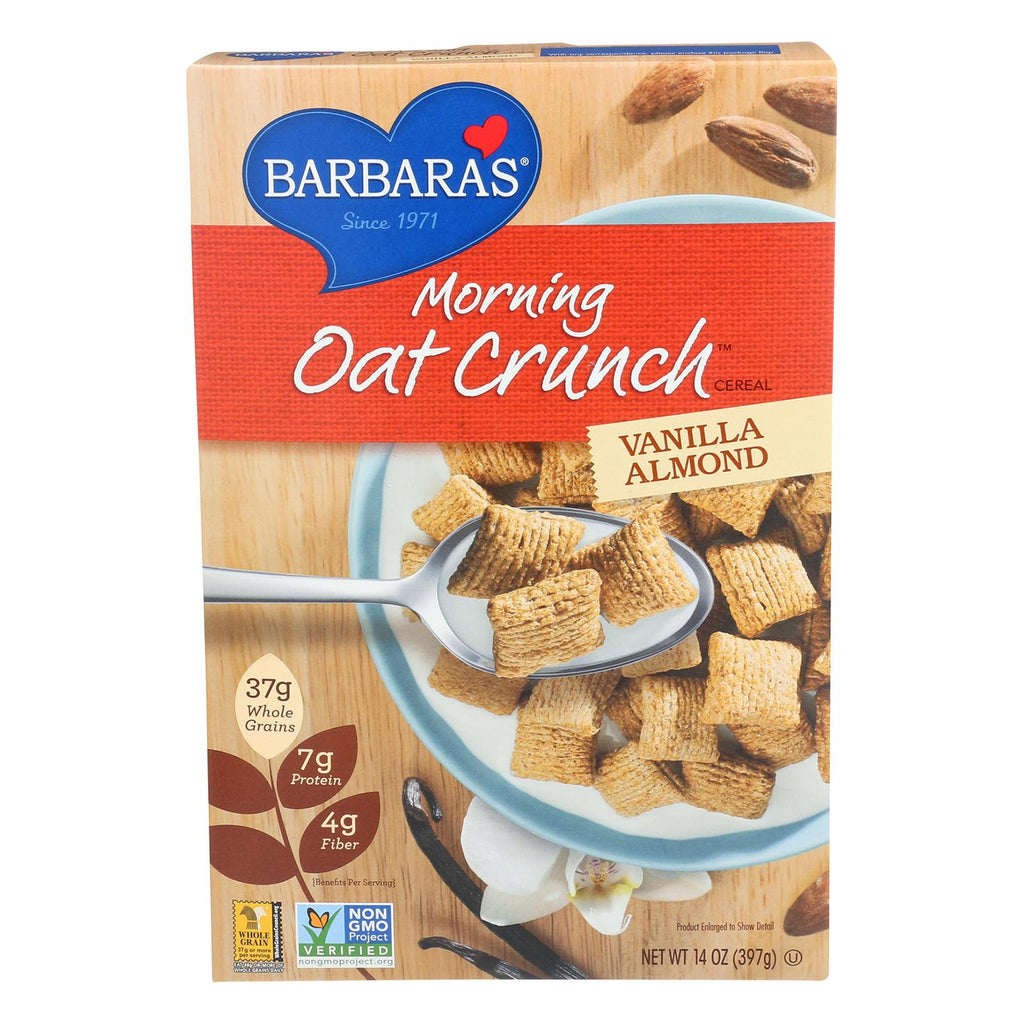 Barbara's Bakery Morning Oat Crunch Cereal - Vanilla Almond - Case Of 6 - 14 Oz.-Barbara's Bakery-pantryperks