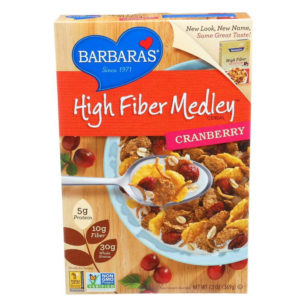 Barbara's Bakery High Fiber Cereal - Cranberry - Case Of 6 - 13 Oz.-Barbara's Bakery-pantryperks