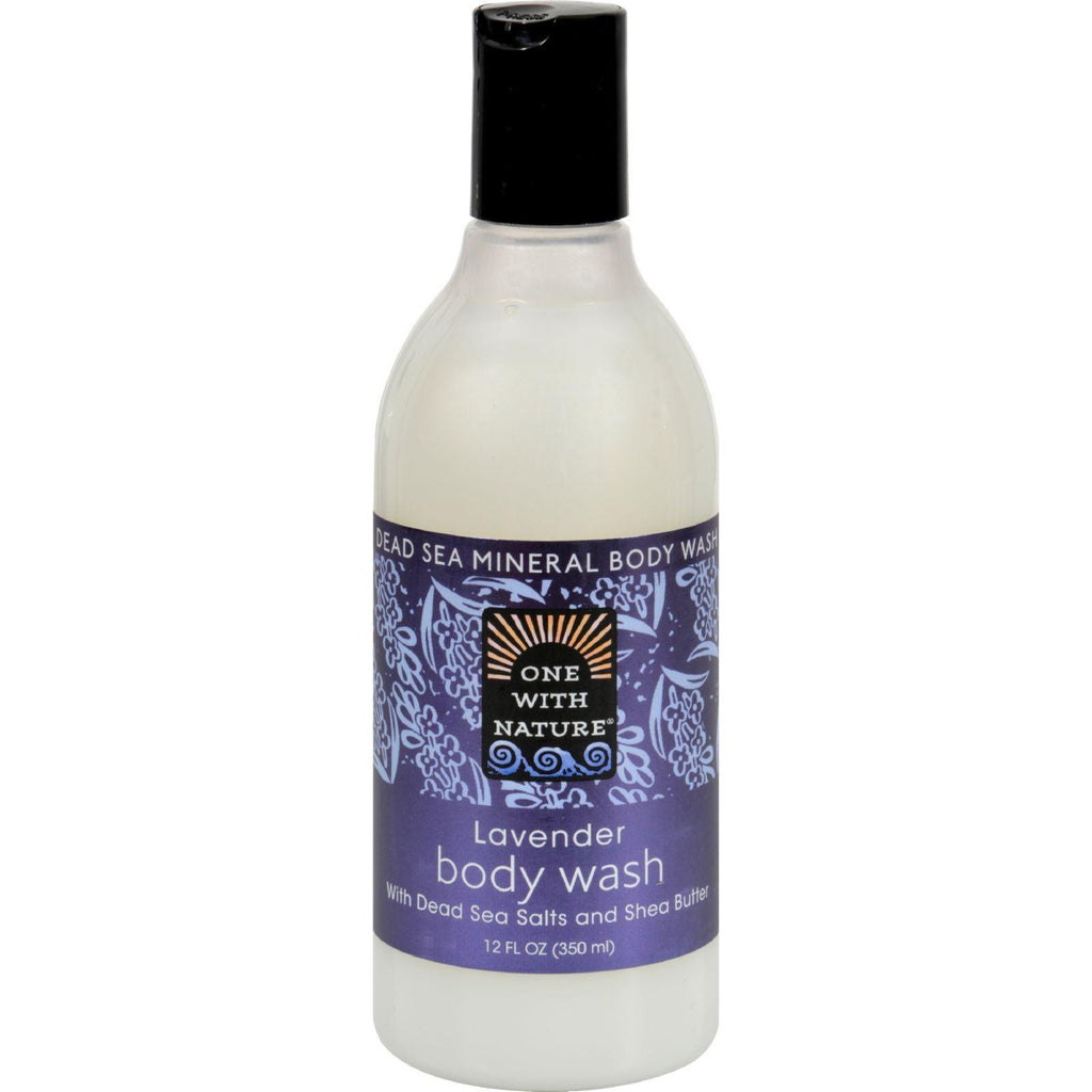 One With Nature Dead Sea Mineral Body Wash Lavender - 12 Fl Oz-One With Nature-pantryperks