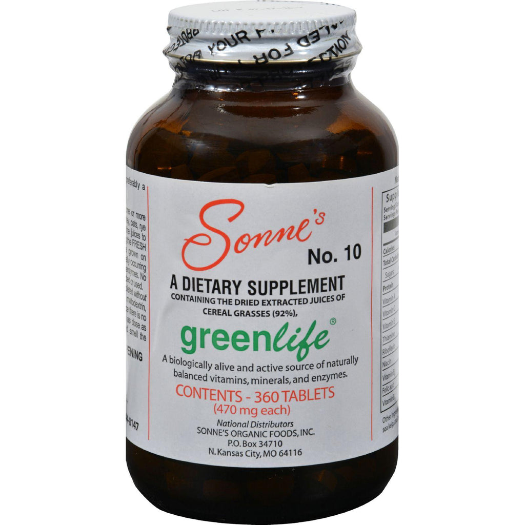 Sonne's Greenlife No 10 - 360 Tablets-Sonne's-pantryperks