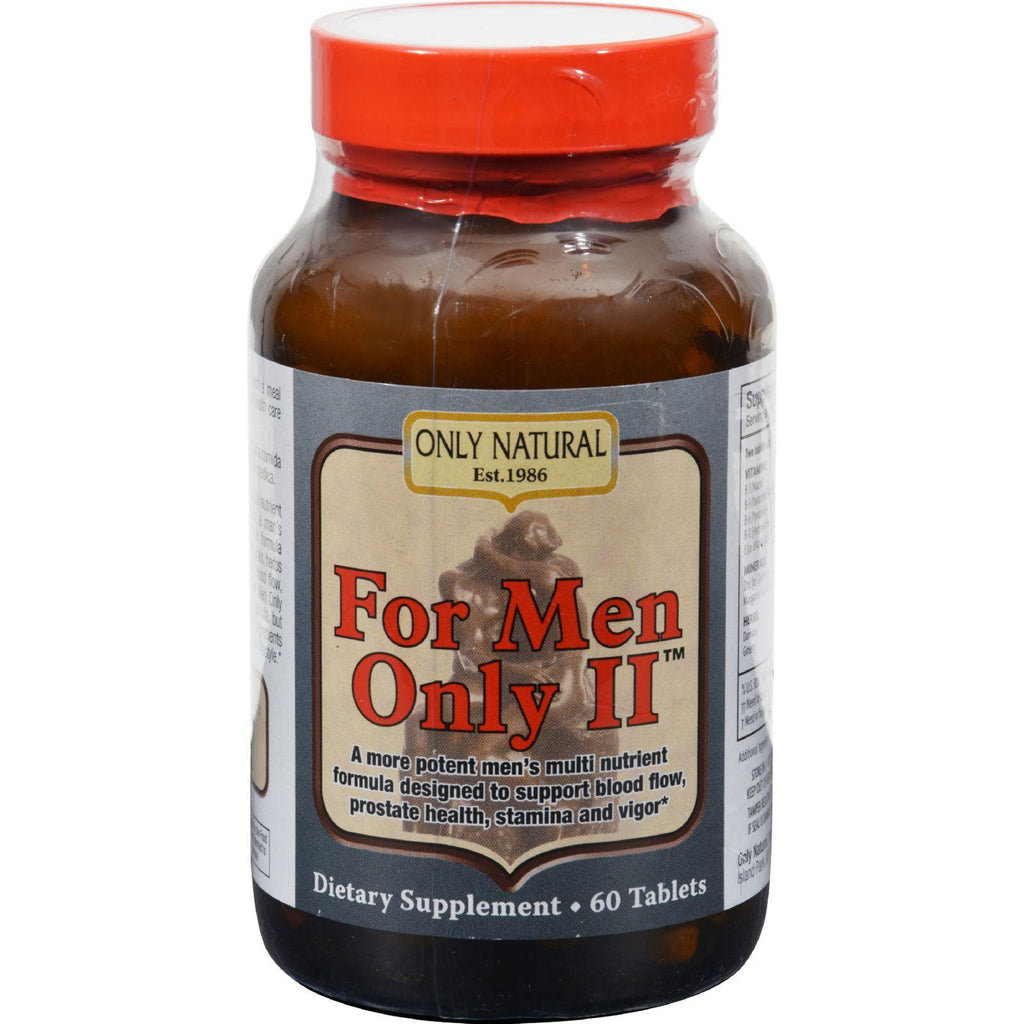 Only Natural For Men Only Ii - 60 Tablets-Only Natural-pantryperks