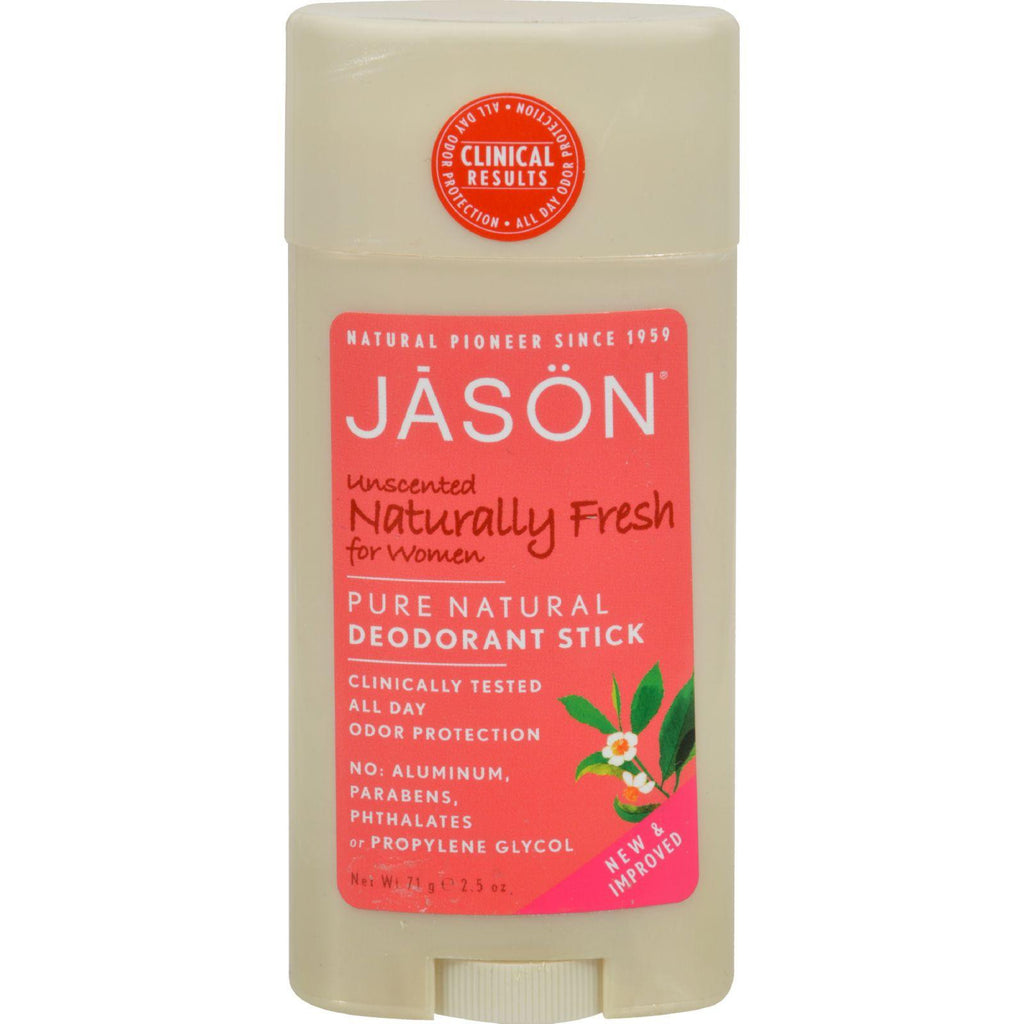 Jason Deodorant Stick For Women Naturally Fresh - 2.5 Oz-Jason Natural Products-pantryperks