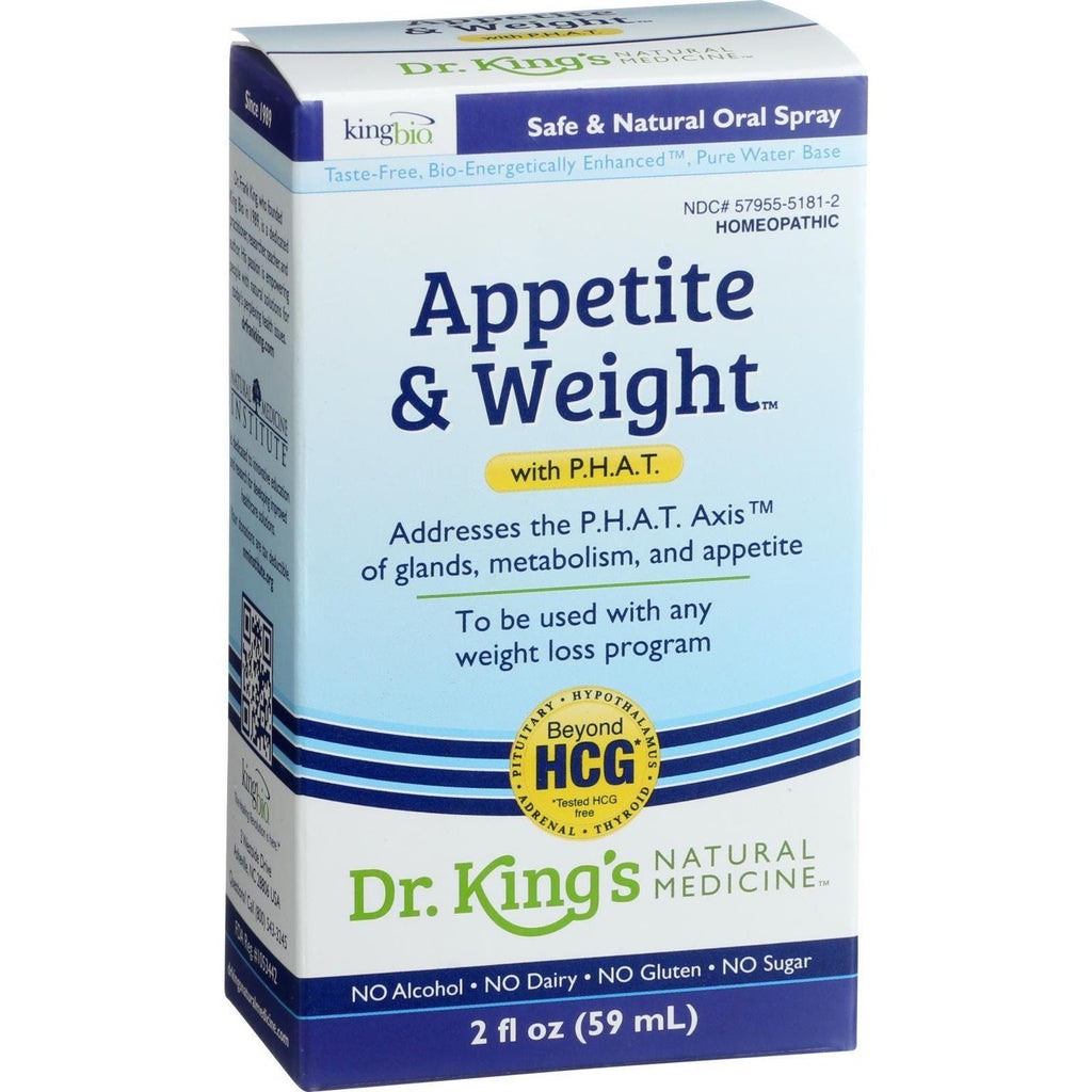 King Bio Homeopathic Appetite And Weight Control - With Phat - 2 Oz-King Bio Homeopathic-pantryperks