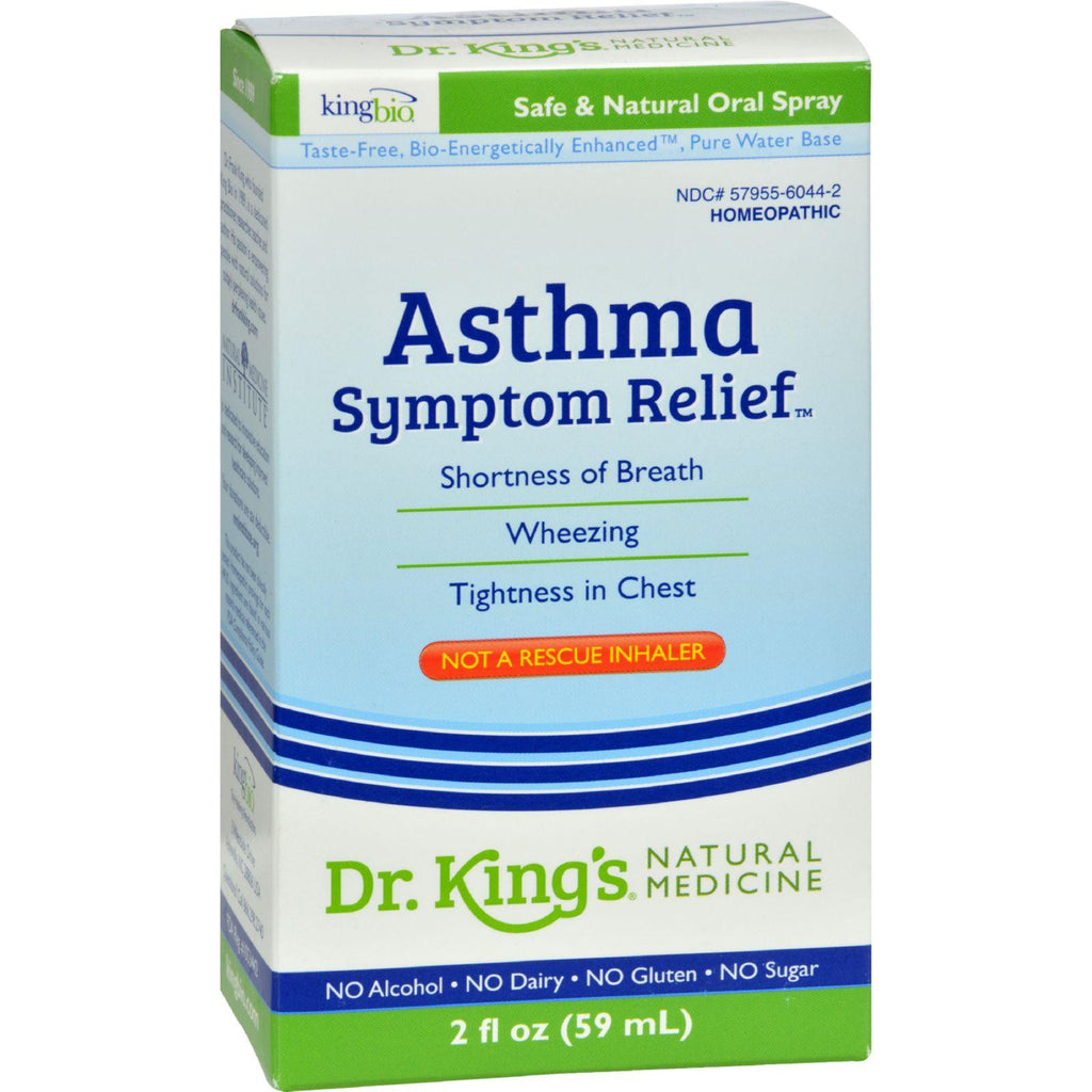 King Bio Homeopathic Asthma Free - 2 Fl Oz-King Bio Homeopathic-pantryperks