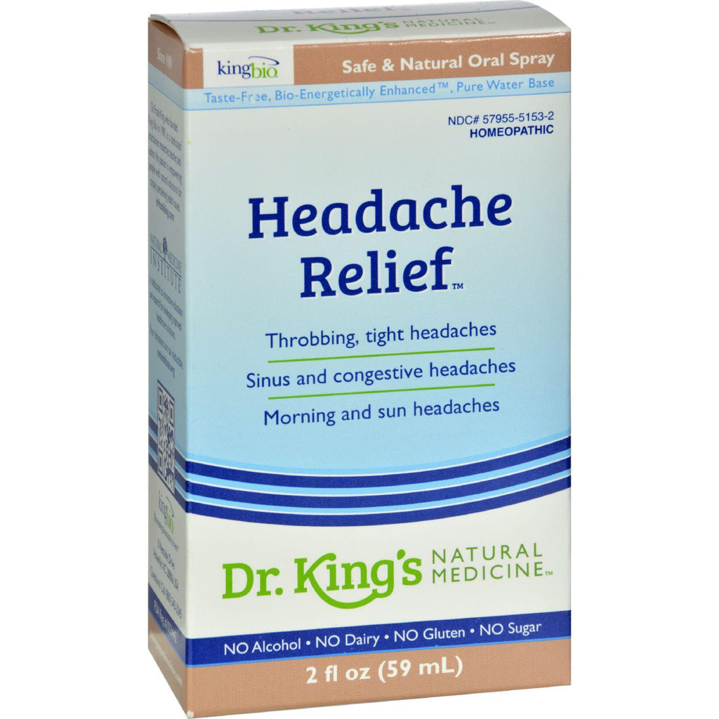 King Bio Homeopathic Headache Relief - 2 Fl Oz-King Bio Homeopathic-pantryperks
