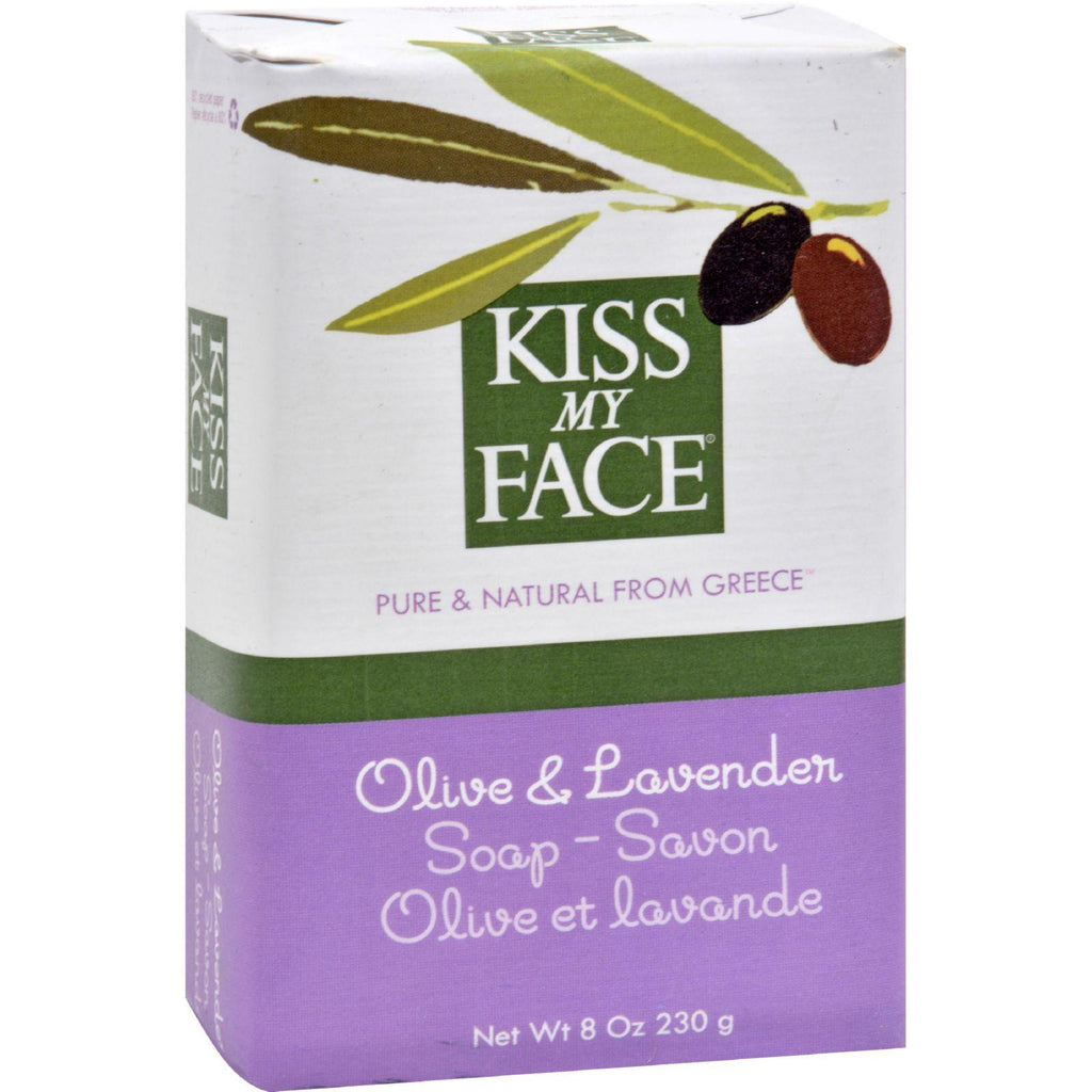 Kiss My Face Bar Soap Olive and Lavender - 8 oz-Kiss My Face-pantryperks