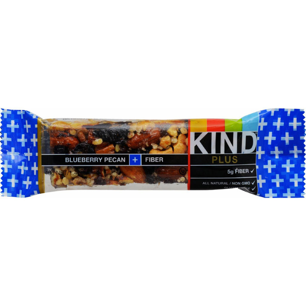 Kind Bar - Blueberry Pecan Plus Fiber - Case Of 12 - 1.4 Oz-Kind-pantryperks