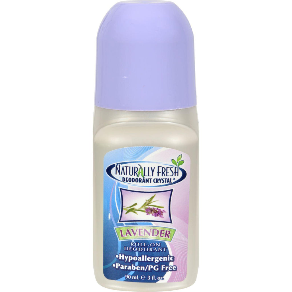 Naturally Fresh Roll On Deodorant Crystal Lavender - 3 oz-Naturally Fresh-pantryperks