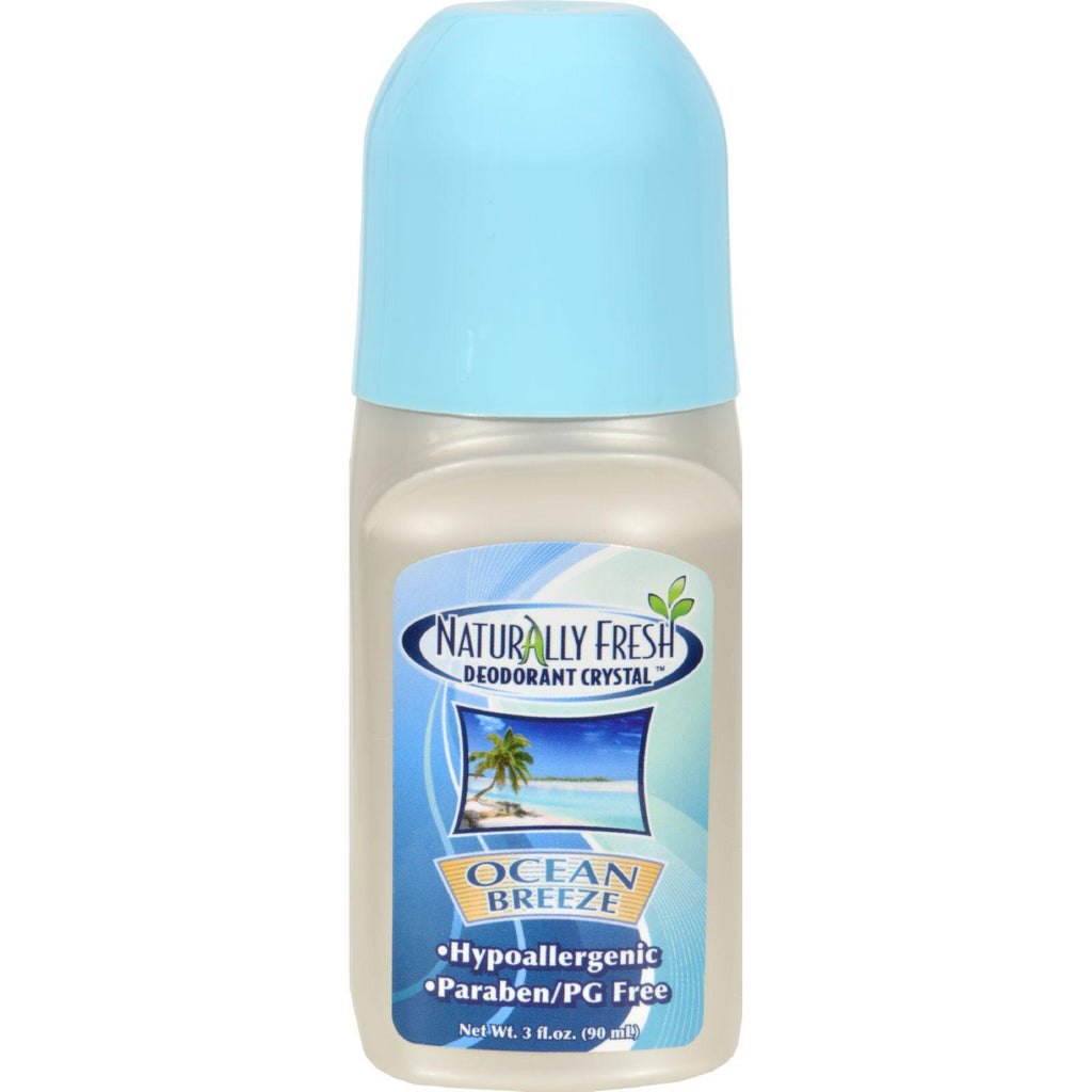 Naturally Fresh Roll On Deodorant Crystal Ocean Breeze - 3 oz-Naturally Fresh-pantryperks