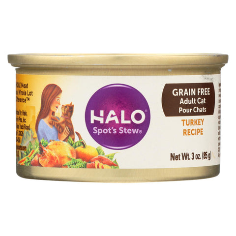 Halo Purely For Pets Spot's Stewå¨ for Cats Wholesome Turkey Recipe - 3 oz-Halo Purely For Pets-pantryperks