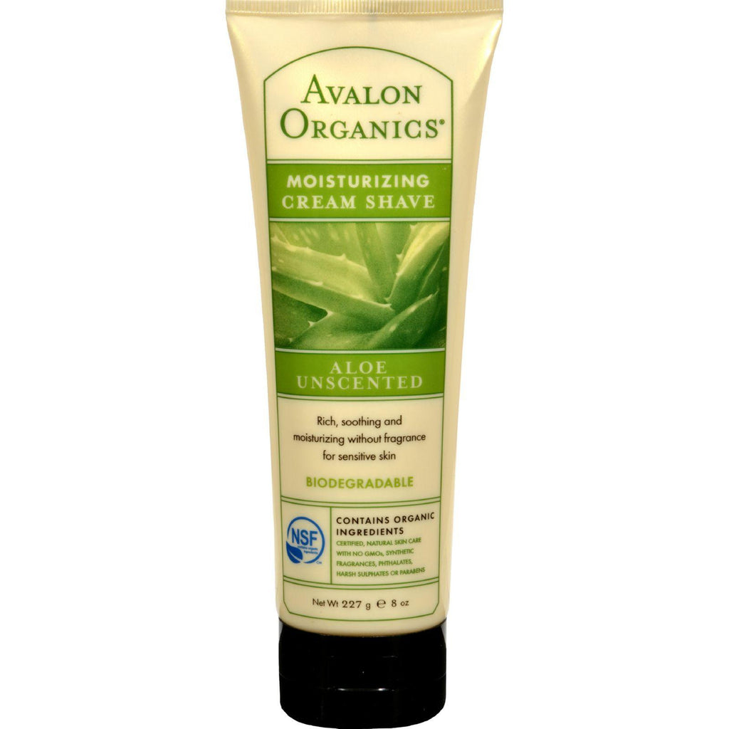 Avalon Organics Cream Shave Aloe Unscented - 8 fl oz-Avalon-pantryperks
