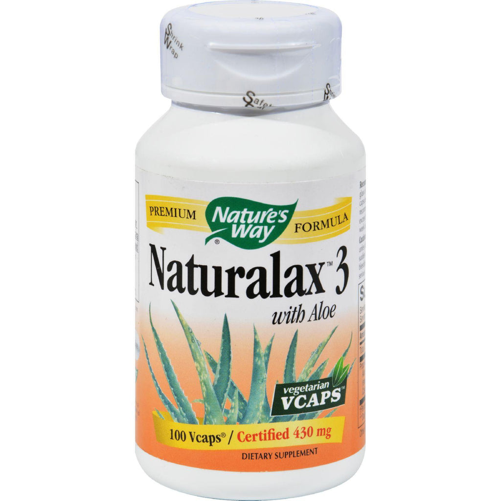 Nature's Way Nurturalax䋢 3 with Aloe - 100 Vegetarian Capsules-Nature's Way-pantryperks