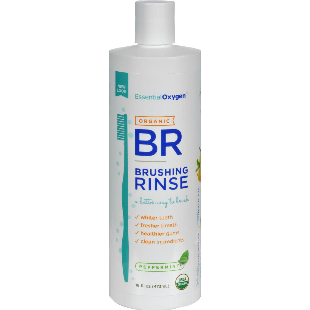 Essential Oxygen Organic Brushing Rinse Peppermint - 16 fl oz-Essential Oxygen-pantryperks