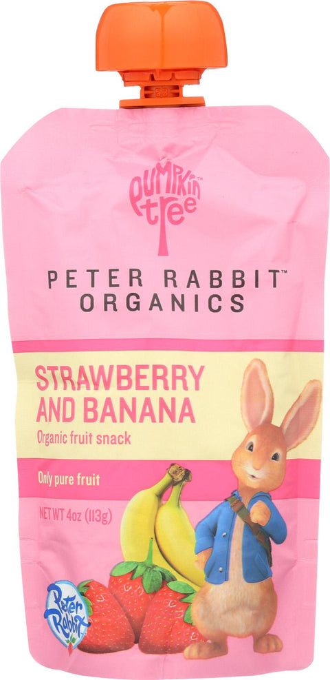 Peter Rabbit Organics Pure Fruit Snack Strawberry and Banana - 4 oz-Peter Rabbit Organics-pantryperks