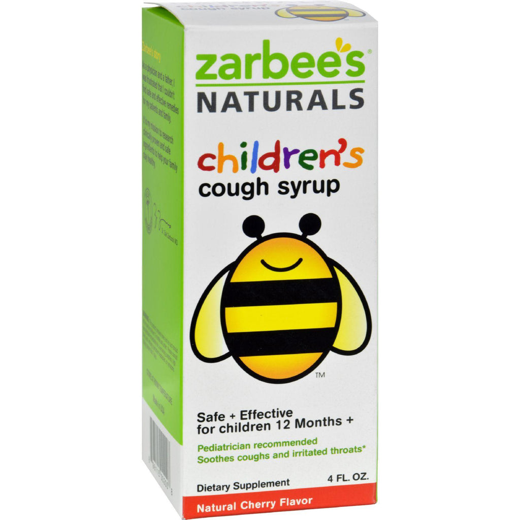 Zarbee's All-natural Children's Cough Syrup 12 Months+ - Natural Cherry Flavor - 4 Oz-Zarbee's-pantryperks