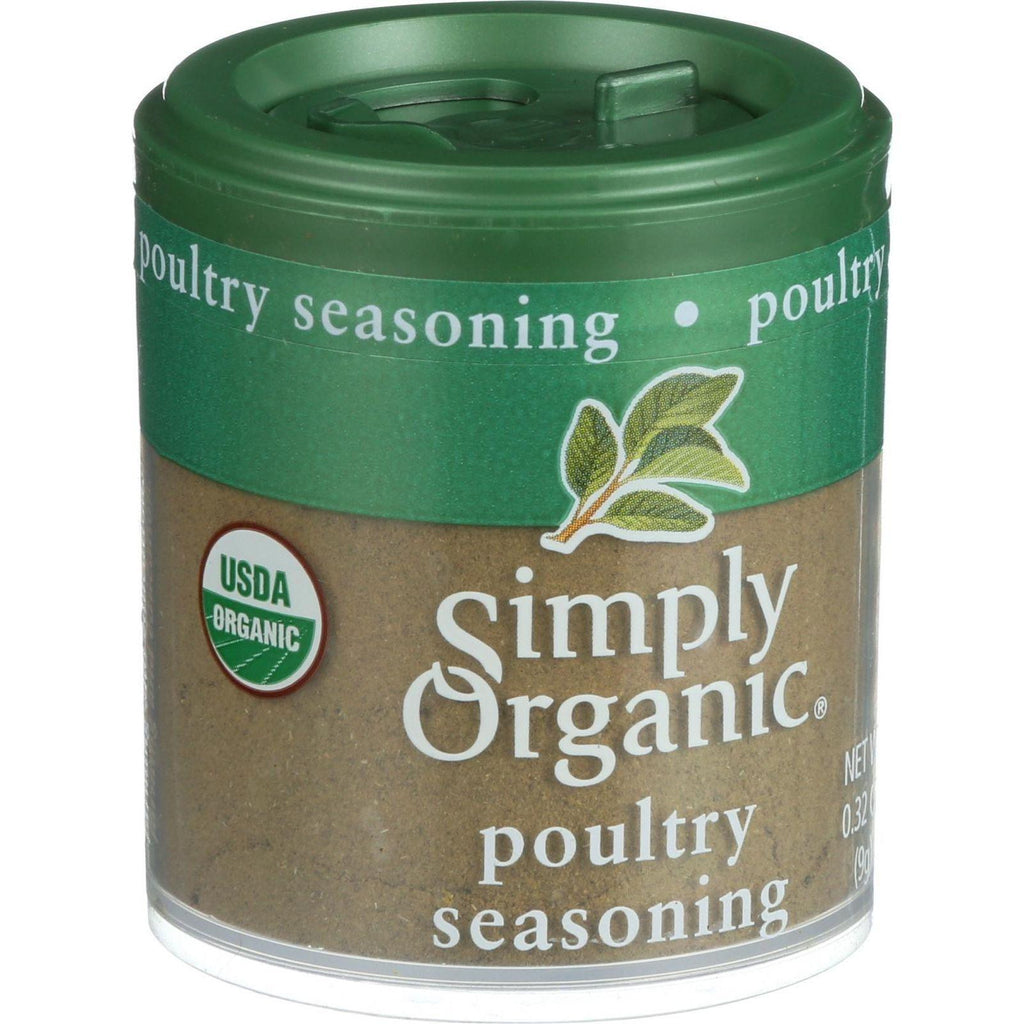 Simply Organic Poultry Seasoning - Organic - .32 Oz - Case Of 6-Simply Organic-pantryperks