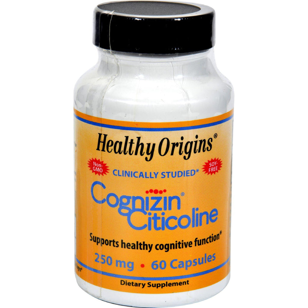 Healthy Origins Cognizin Citicoline - 250 Mg - 60 Capsules-Healthy Origins-pantryperks