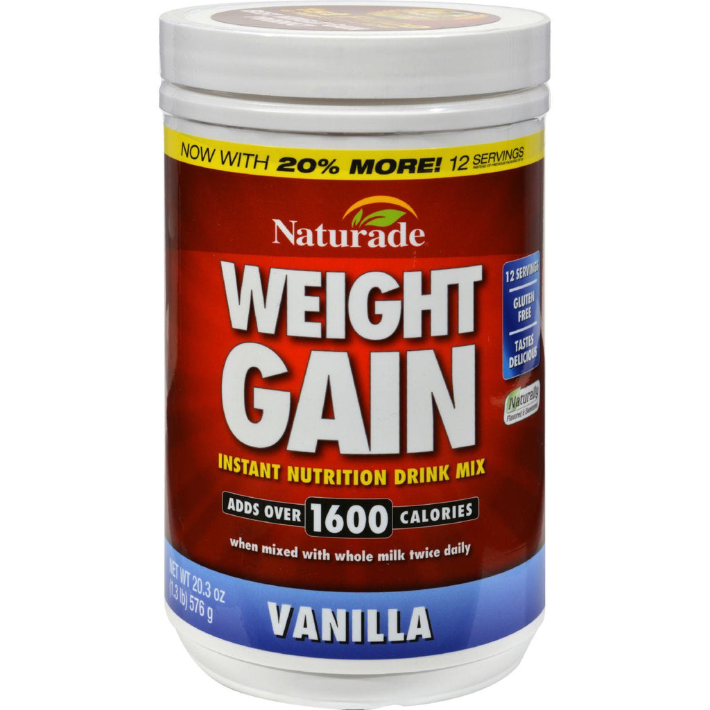 Naturade Weight Gain Vanilla - 20.3 oz-Naturade-pantryperks