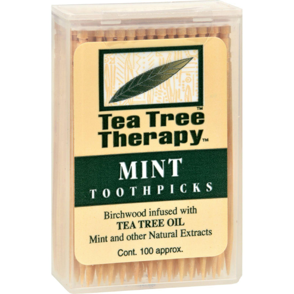 Tea Tree Therapy Toothpicks Mint - 100 Toothpicks-Tea Tree Therapy-pantryperks