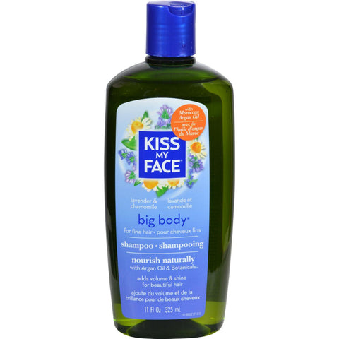 Kiss My Face Big Body Shampoo Lavender And Chamomile - 11 Fl Oz-Kiss My Face-pantryperks