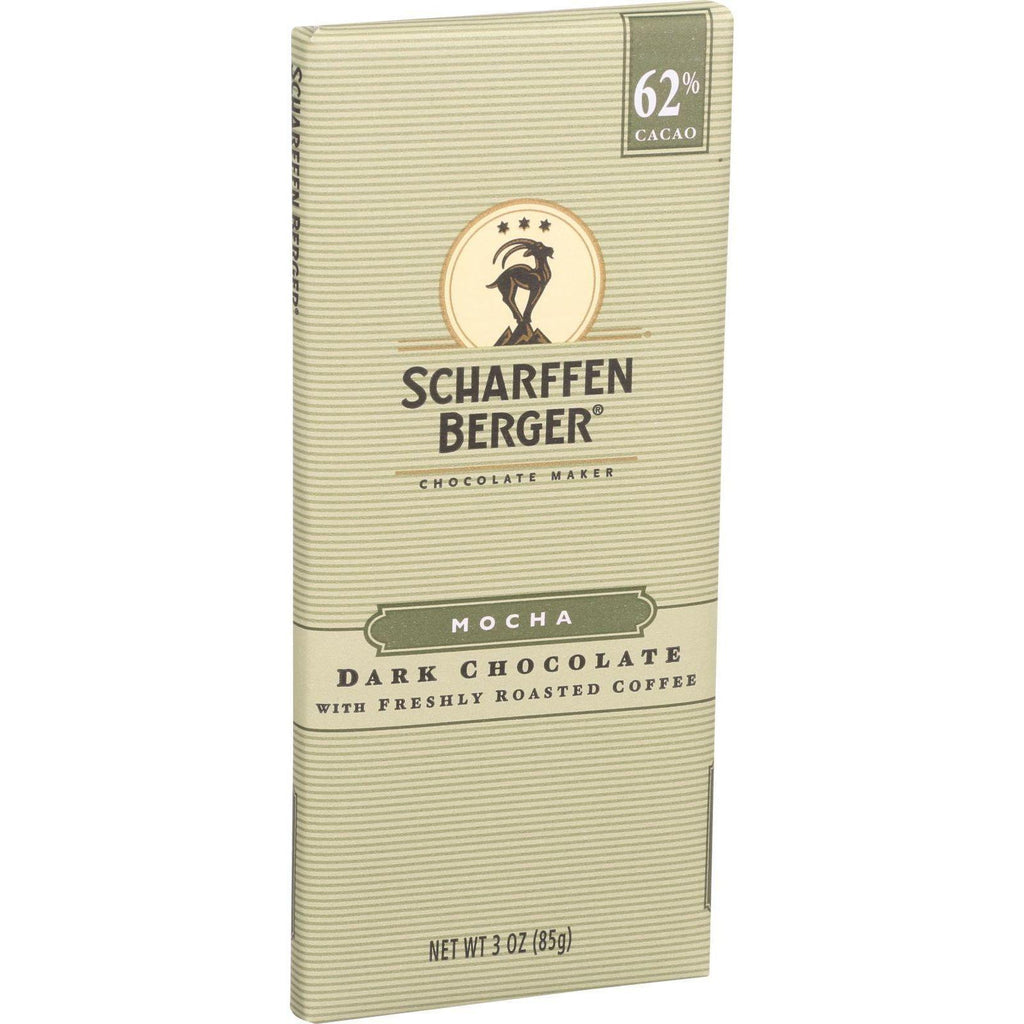 Scharffen Berger Chocolate Bar - Dark Chocolate - 62 Percent Cacao - Mocha - 3 Oz Bars - Case Of 12-Scharffen Berger-pantryperks