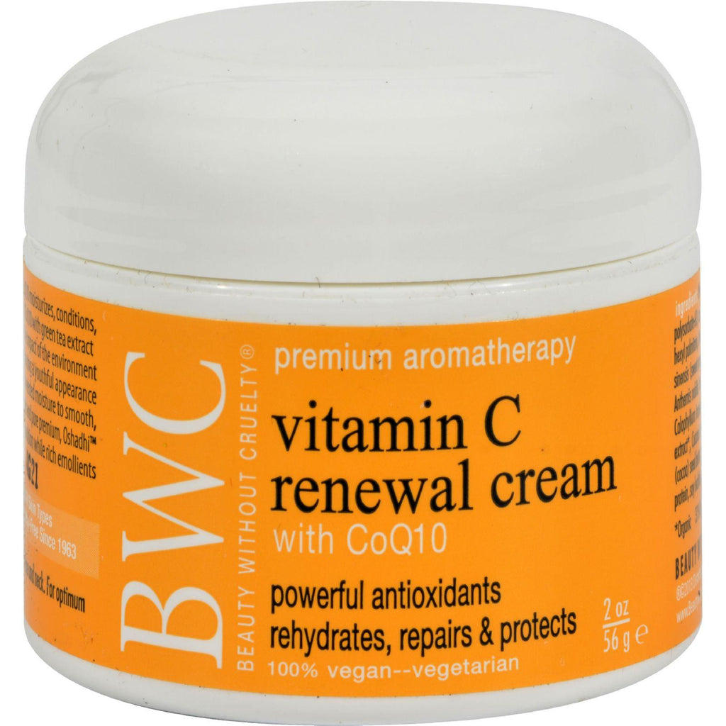 Beauty Without Cruelty Renewal Cream Vitamin C With Coq10 - 2 Oz-Beauty Without Cruelty-pantryperks