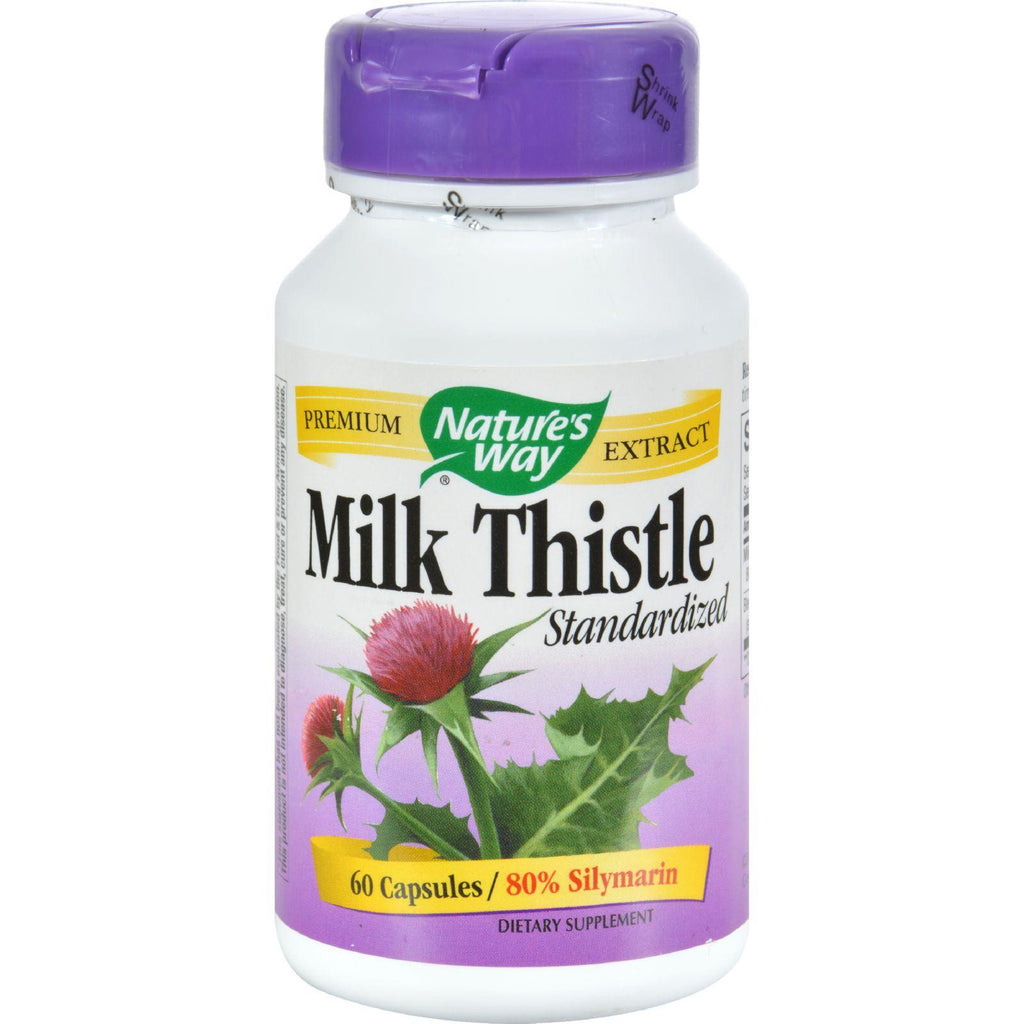 Nature's Way Milk Thistle Standardized - 60 Capsules-Nature's Way-pantryperks