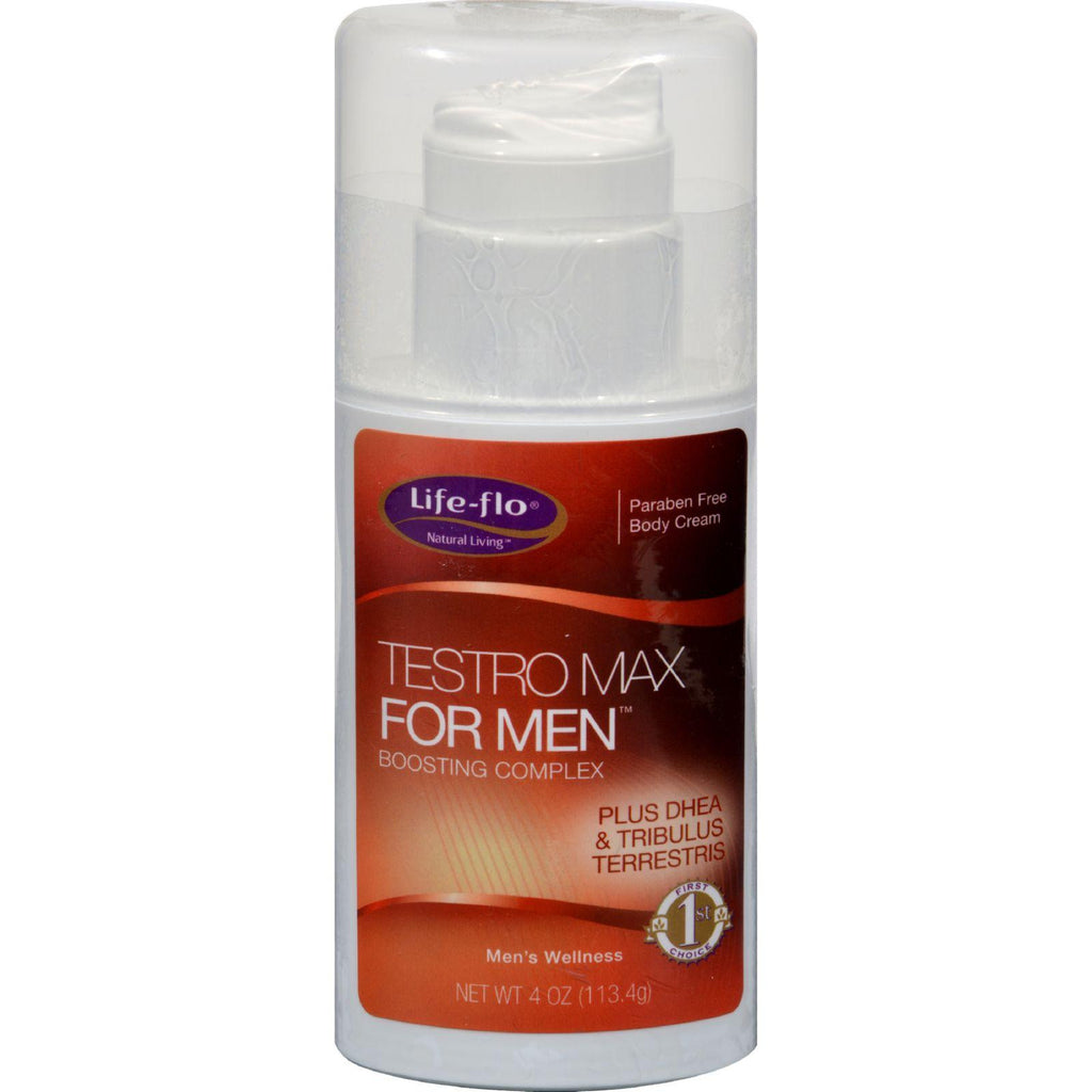 Life-flo Testro Max For Men Body Cream - 4 Fl Oz-Life-flo-pantryperks
